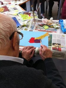 Pintura amb malalts d'Alzheimer 2