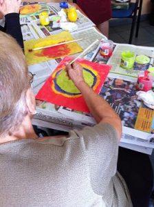Pintura amb malalts d'Alzheimer