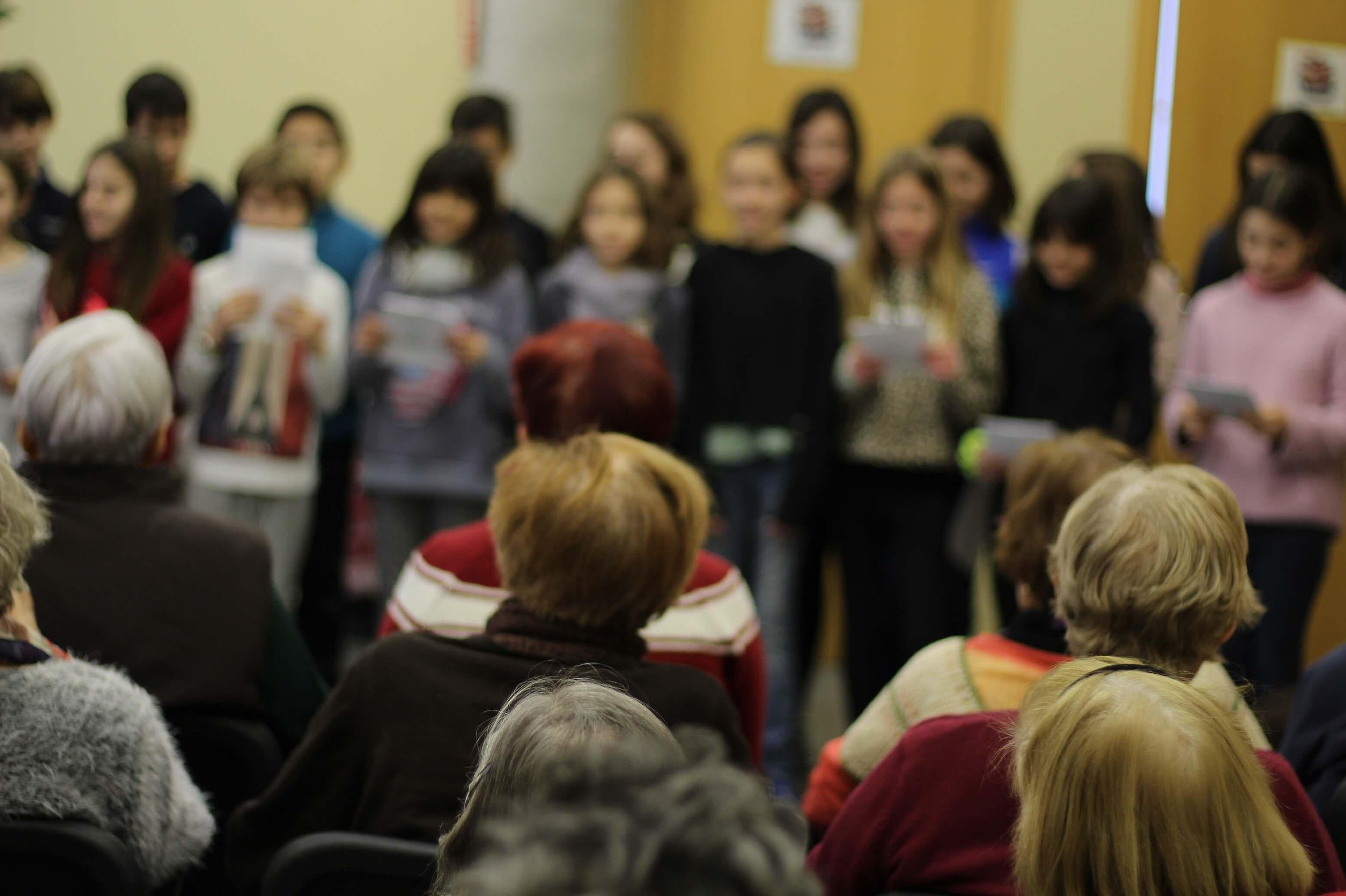Visita dels nens i nenes de l'escola Nausica